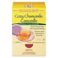 BIGELOW TEA CO. 10906 Cozy Chamomile Herbal Tea Pods, 1.90 oz, 18/Box