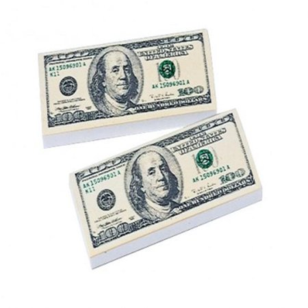 Us Toy Lm101x8 36 Piece Dollar 100 Bill Erasers   8 Per Boxes