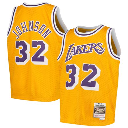Magic Johnson Los Angeles Lakers Mitchell & Ness Youth Swingman Throwback Jersey - - Jets Throwback Jersey