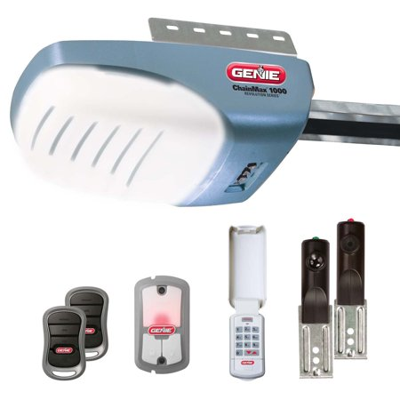 Genie 37280u Garage Door Opener with 3/4 HPc DC Chain Diy Garage Door Opener