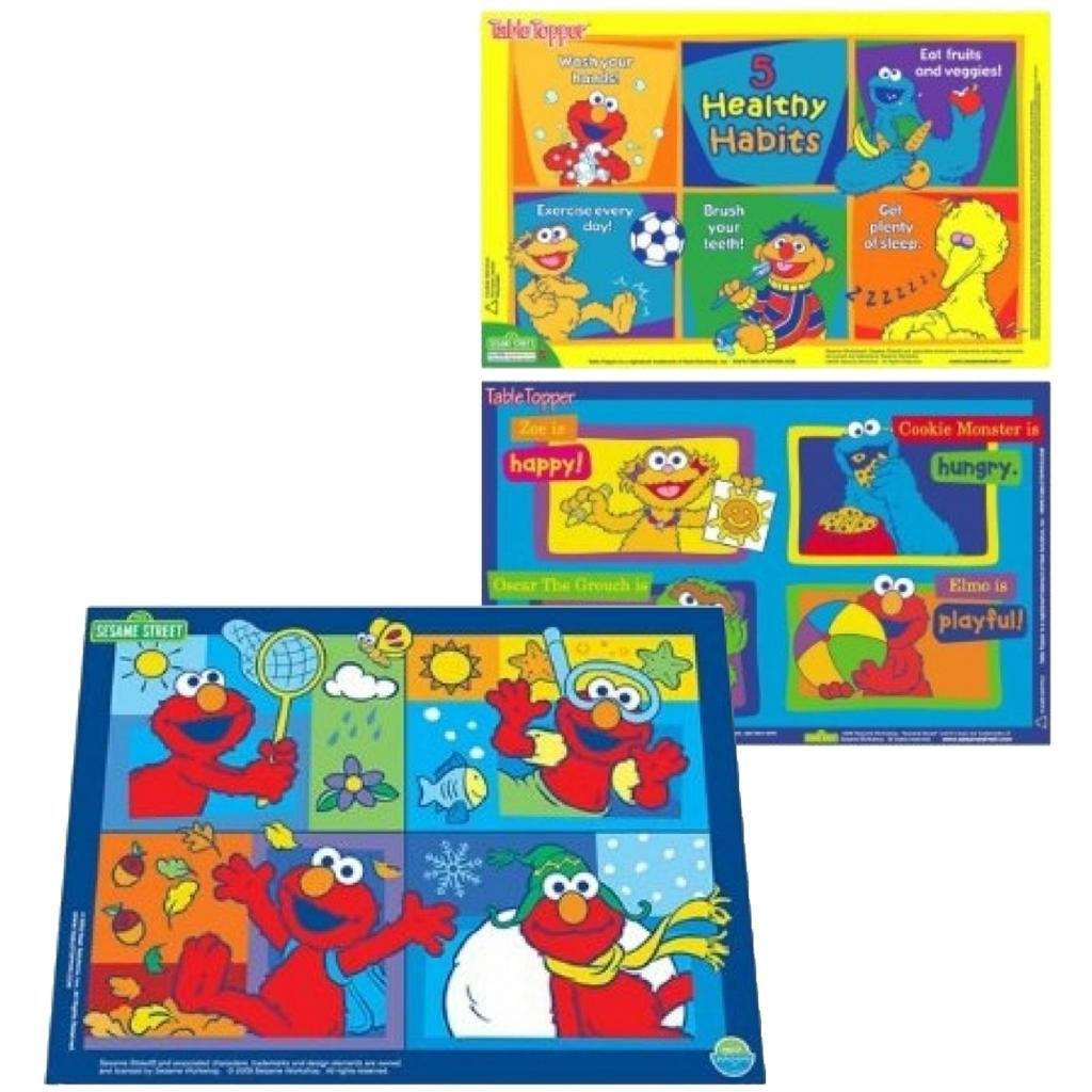 Neat Solutions Sesame Street Table Topper with Travel Case (50 Count) & Floor Mat