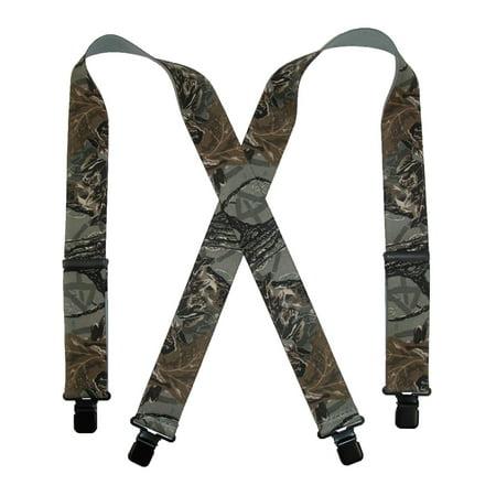 - CTM®  Men's Elastic Clip-End 2 Inch Realtree Camo Suspenders