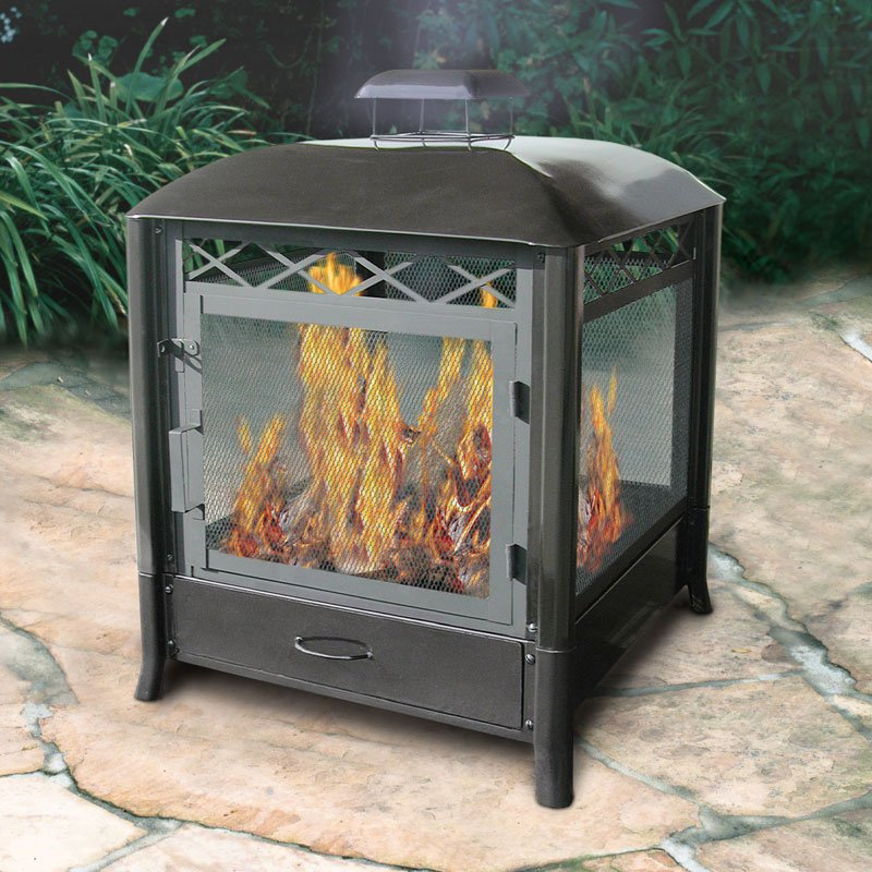 Landmann Aspen 25 Inch Steel Outdoor Fireplace