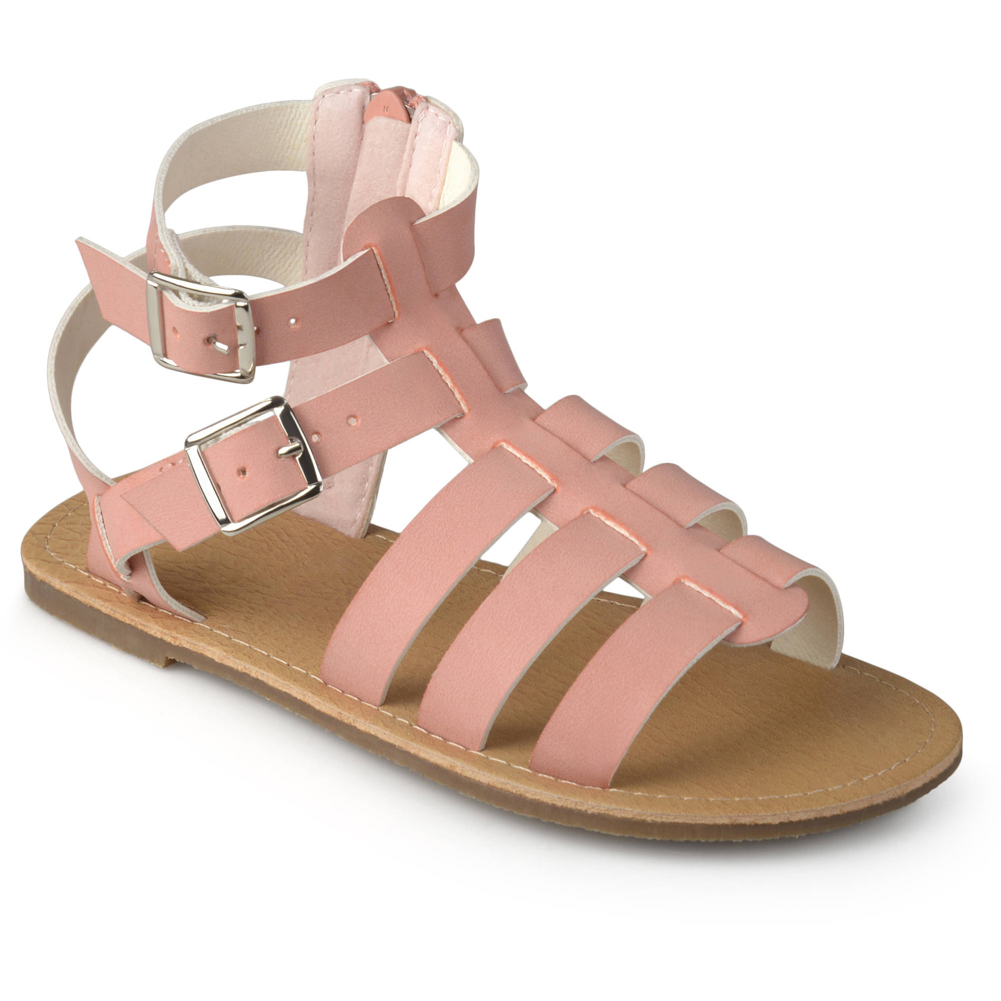 Brinley Kids Little Girl Faux Leather Buckle Gladiator Sandals