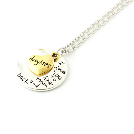 Fashion Jewelry I Love You Family Mom Birthday Gift Pendant Necklace for Women Girl - (Costume Fashion Jewelry Necklace)