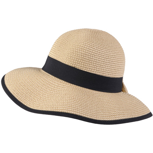 Brinely Co Womens Ribbon Accent Tweed Sunhat