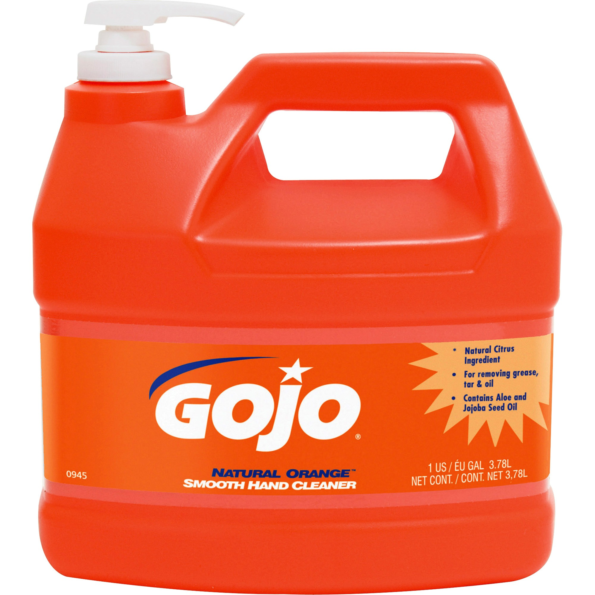 Gojo, GOJ094504CT, Natural Orange Smooth Hand Cleaner, 4 / Carton, Orange