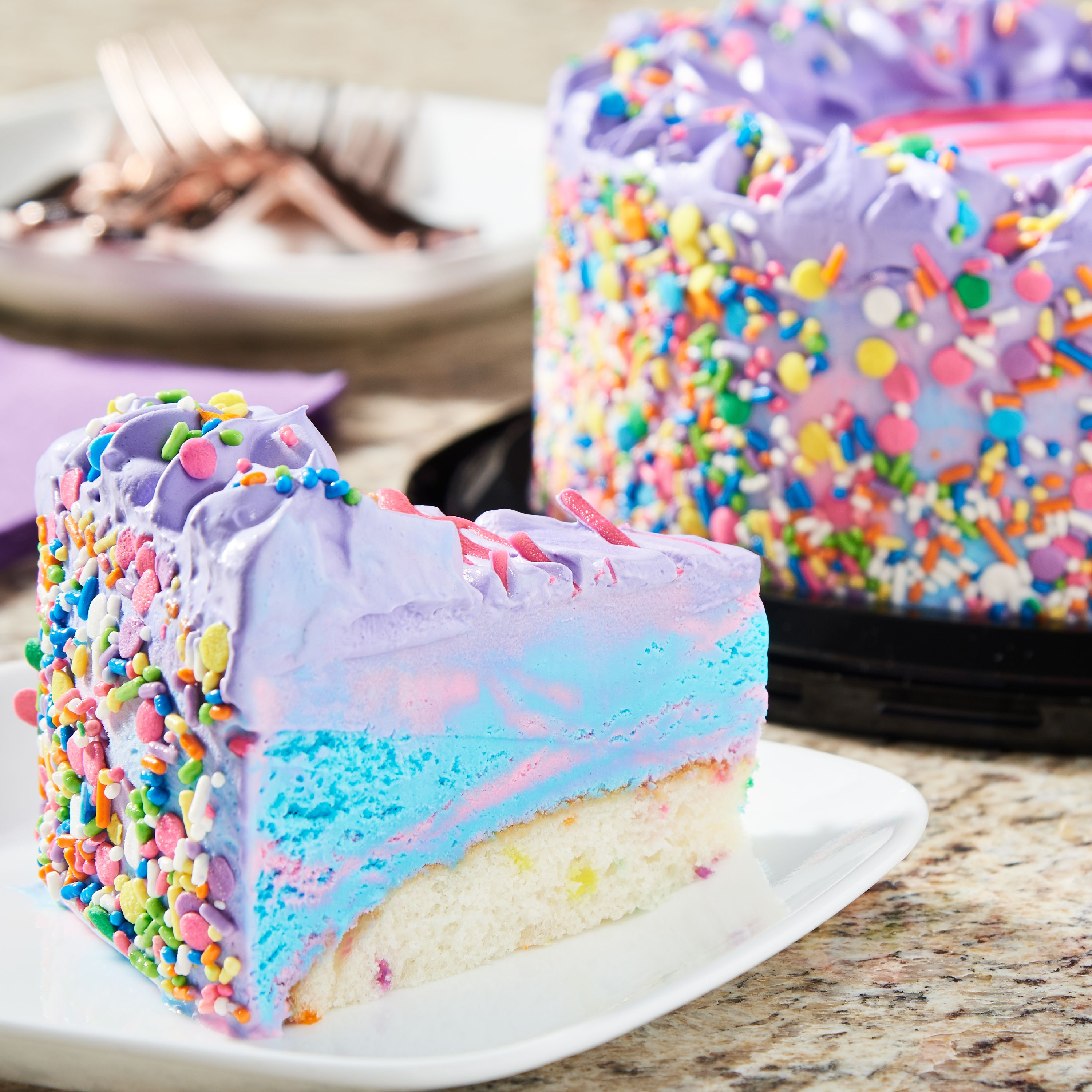 Marvelous Marketside Marketside Unicorn Ice Cream Cake With Confetti Cake Funny Birthday Cards Online Elaedamsfinfo