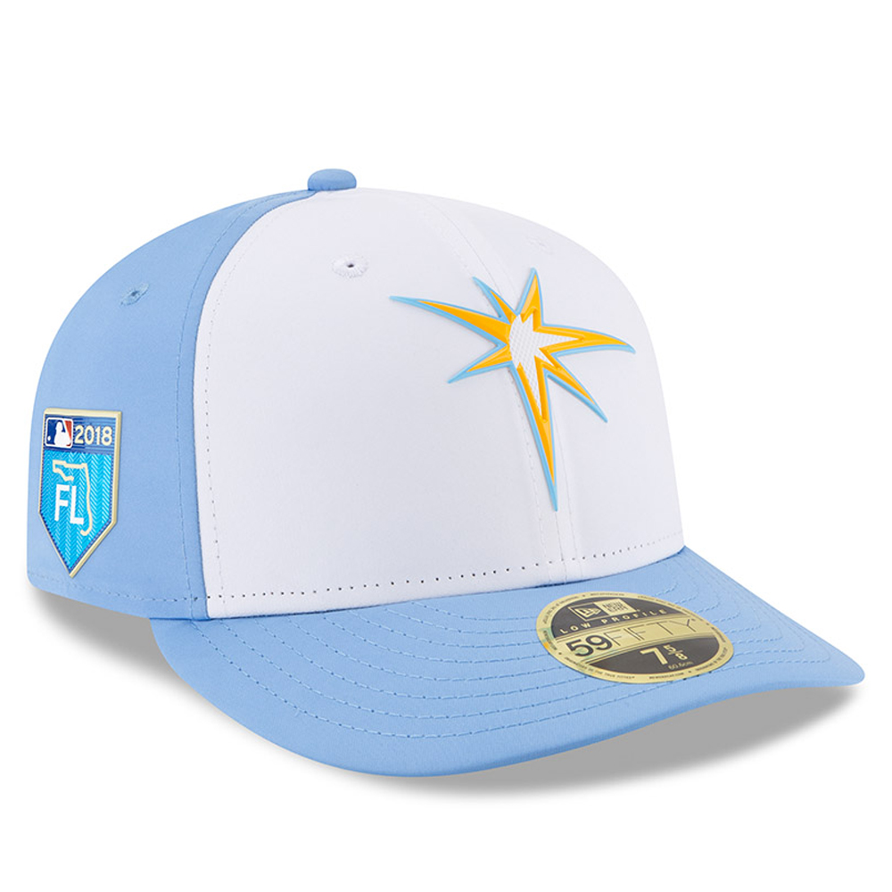 Tampa Bay Rays New Era 2018 Spring Training Collection Prolight Low Profile 59FIFTY Fitted Hat - White