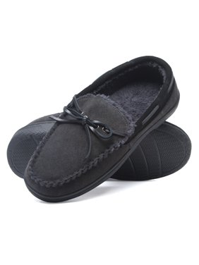 14e228ef2 Product Image Heat Edge Mens Memory Foam Suede Slip On Indoor Outdoor  Moccasin Slipper Shoe
