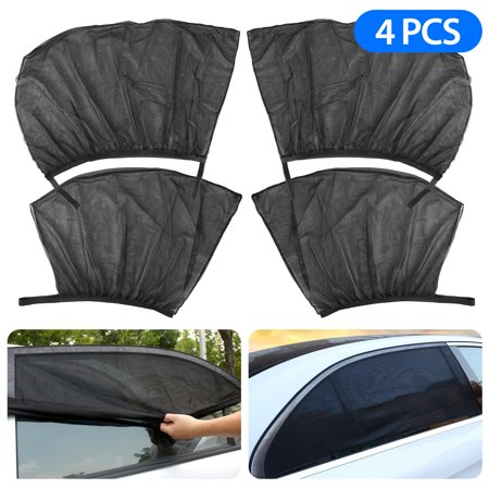 EEEkit 4Pcs/Set Car Sun Shade, Front Rear Windows Shade Mesh Sunshade Protect, Universal for All Cars SUV Truck (Rear Windows)