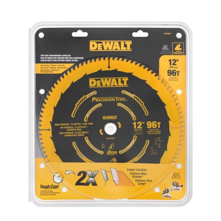 "DeWalt Thin Kerf Woodworking Saw Blade 12"", 1.0 CT"