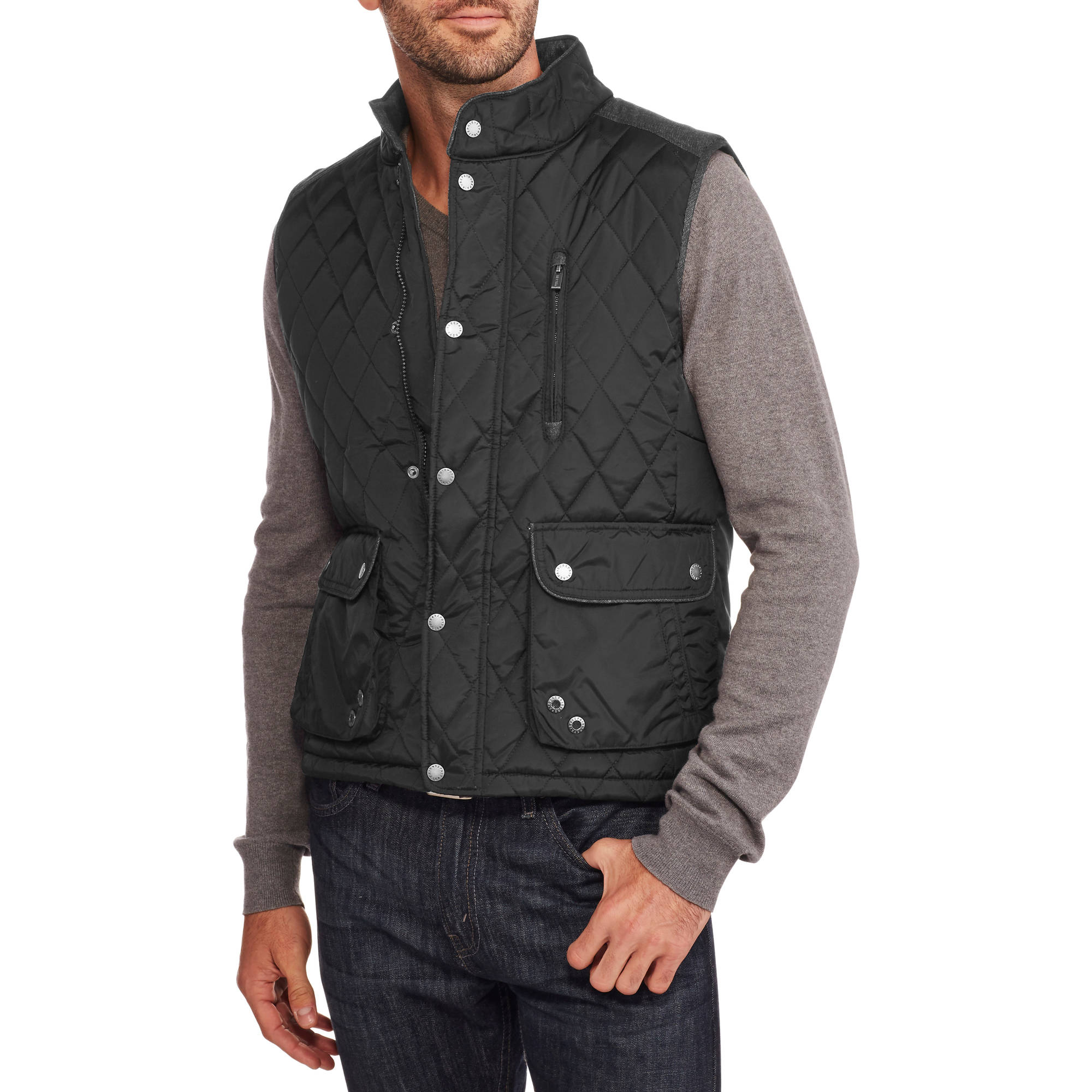 Repair Men's Quilted Contrast Yoke Vest