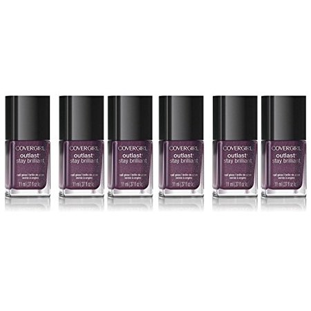 6x CoverGirl Outlast Stay Brilliant Nail Polish 75 Pyro Pink - 04604624