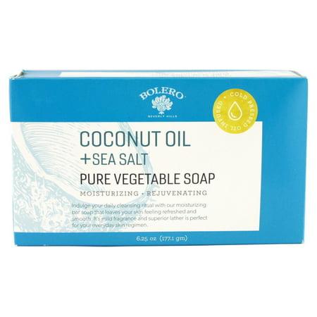 Bolero Coconut Oil + Sea Salt Pure Vegetable Soap Bar - 6.25 oz.