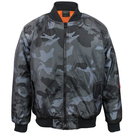 Original Deluxe Men's Zip Up Military Pilot Army Bomber Jacket - Deluxe Bomber Jacket