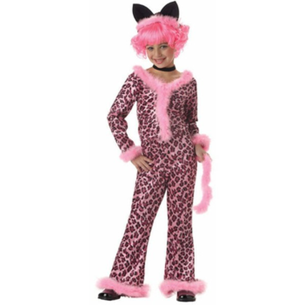 Child's Pink Sassy Cat Costume by