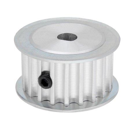 Image of Aluminum 20 Teeth 5mmx4.5mm D-Shape Bore 16mm Belt Timing Idler Pulley Wheel