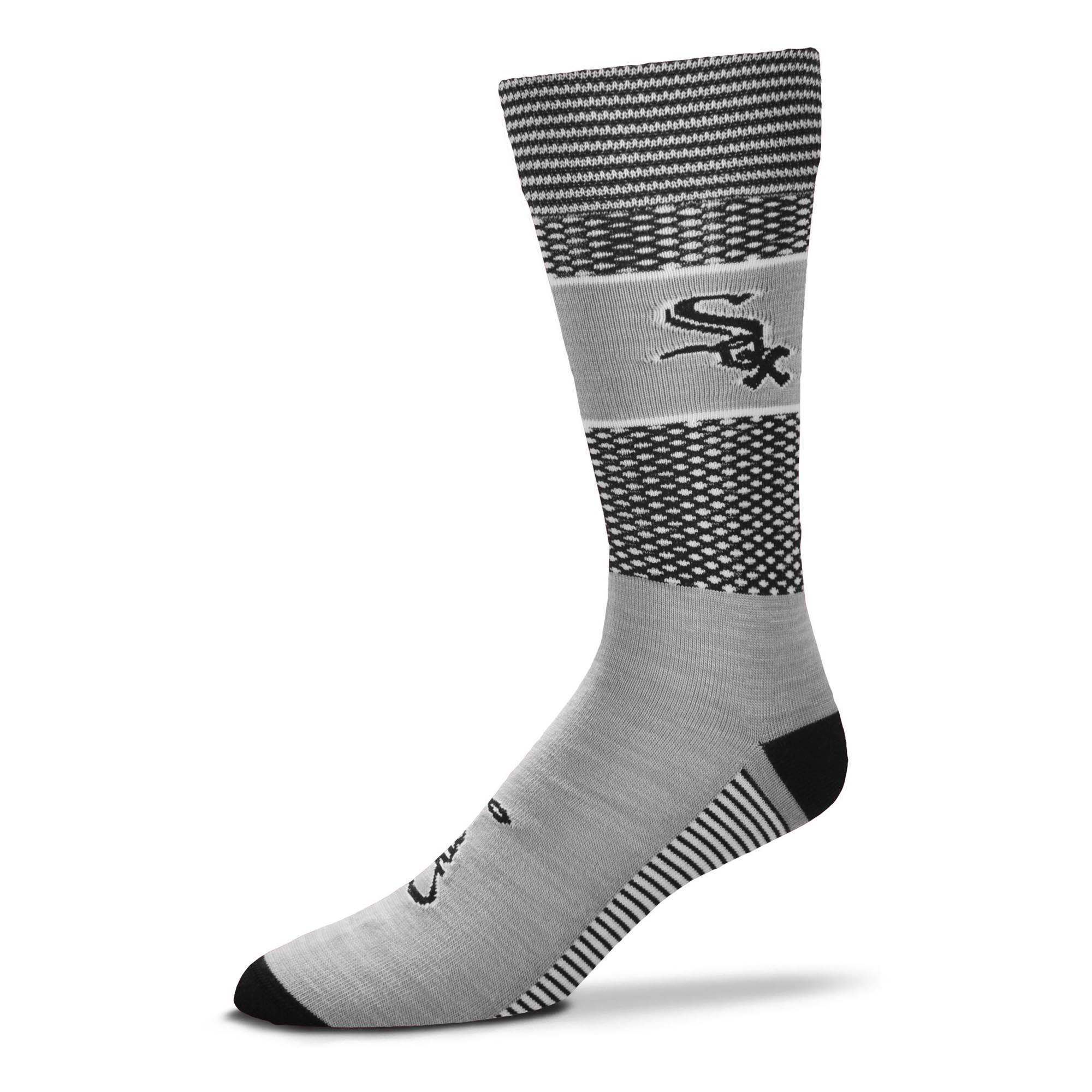 Chicago White Sox For Bare Feet Women's Mojo Crew Socks - M