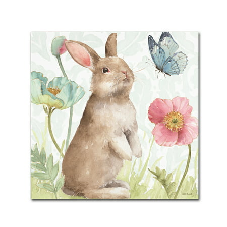 Trademark Fine Art 'Spring Softies Bunnies II' Canvas Art by Lisa (Bunny Canvas Art)