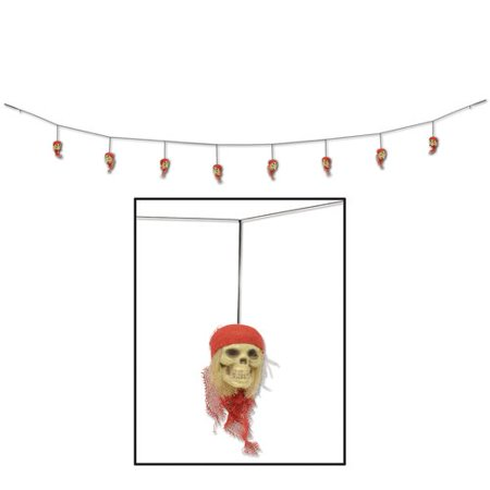 The Holiday Aisle Halloween Pirate Skull Garland - Halloween Door Garland