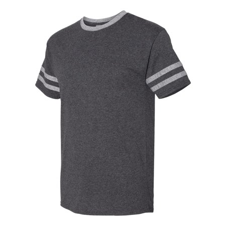 Jerzees - Triblend Ringer Black Heather Varsity T-Shirt (Varsity Oxford)