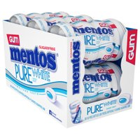 Mentos Pure White Gum, Sweet Mint, 50 Pieces (Pack of 6)