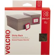 VELCRO®, VEK90140, Sticky Back Tape, 200 Set, Beige