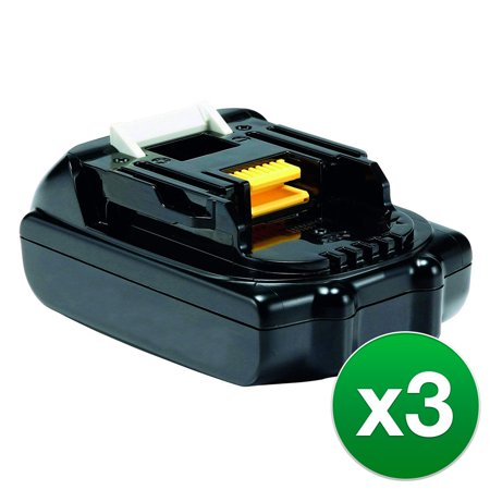 Replacement Battery For Makita XDT14Z Power Tools - BL1815 (1500mAh, 18V, Lithium Ion) - 3 Pack