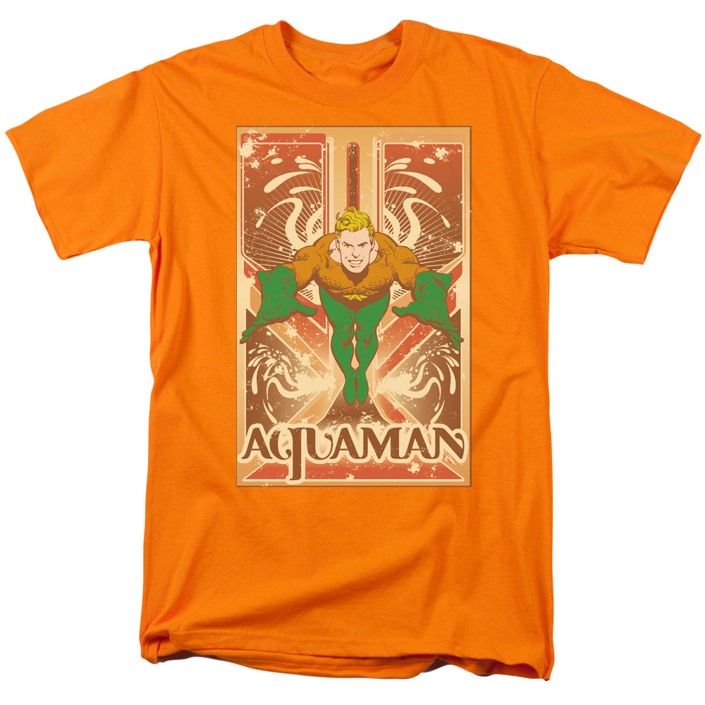 DC/AQUAMAN-S/S ADULT 18/1 - ORANGE - 5X