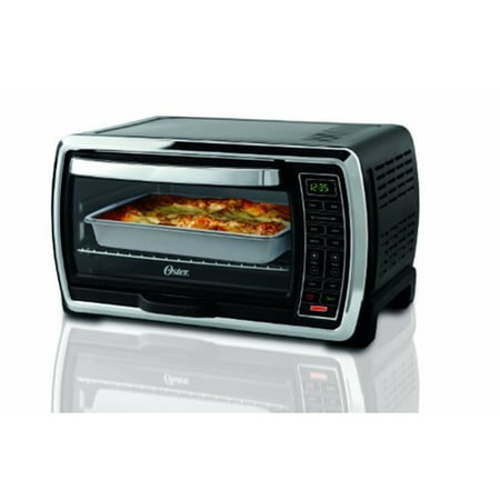 New Anvil Electric Countertop - Oster Large Capacity Countertop 6-Slice Digital Convection Black & Polished Stainless Steel Toaster Oven