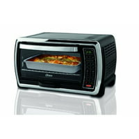 Oster Large Capacity Countertop 6-Slice Digital Convection Toaster Oven, Black/Polished Stainless (TSSTTVMNDG)