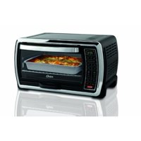 Oster Large Capacity Countertop 6-Slice Digital Convection Black & Polished Stainless Steel Toaster Oven