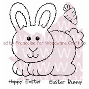 """Woodware Clear Stamps, 3.5"""" x 3.5"""" Sheet, Hoppy Bunny"""