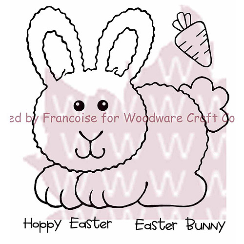 "Woodware Clear Stamps, 3.5"" x 3.5"" Sheet, Hoppy Bunny"
