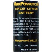 Max Power Cell CR123A 3 Volt Lithium Battery