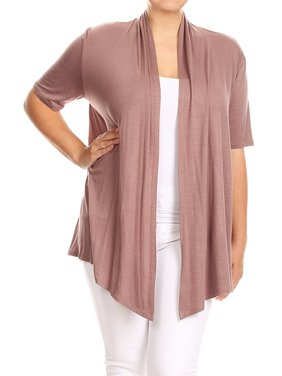25114f7b Product Image Plus Size Women's Open Front Solid Cardigan