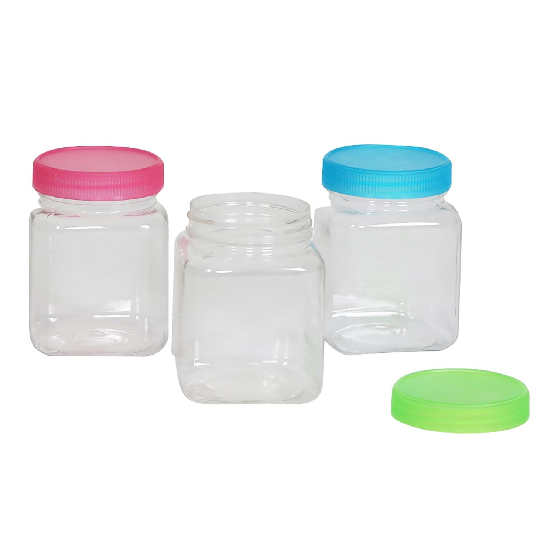 Everything Mary Plastic Jars 6 Oz 3 Pack Clear Walmart Com Walmart Com