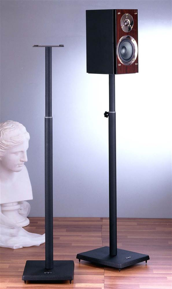 Surround Sound Speaker Stand in Black Set of 2 by VTI Manufacturing, Inc.