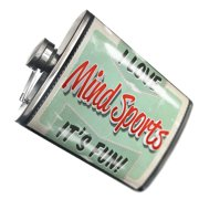 NEONBLOND Flask I Love Mind Sports, Vintage design