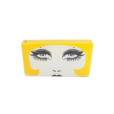 The Joy of Light Designer Matches Yellow Raquel Mod Fashion Model Embossed Matte 4