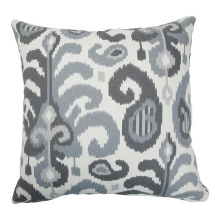 The Pillow Collection Scebbi Ikat Bedding Sham Pink Green King//20 x 36