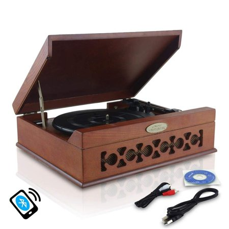 Everything 45 Rpm Records - Updated Version Pyle Bluetooth Retro Turntable With Speakers, Wireless Record Player, Record Player Convert Vinyl to Mp3, Mac and PC, Includes Music Editing Software, 3 Speed Turntable: 33, 45, 78 RPM