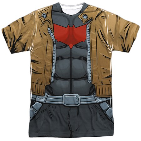 Batman Uniform (Batman Men's  Red Hood Uniform Sublimation T-shirt)