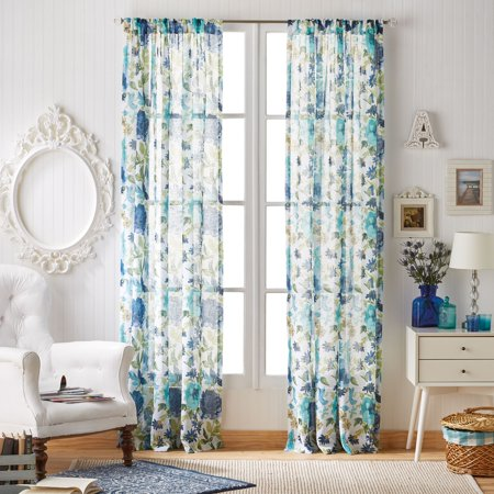 The Pioneer Woman Fiona Floral Pole Top Curtain Panel