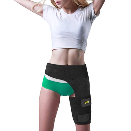 VGEBY Black Adjustable Groin Brace Wrap Thigh Support Pain Relief Strain Neoprene Hip (Pain In Right Groin And Hip Female)