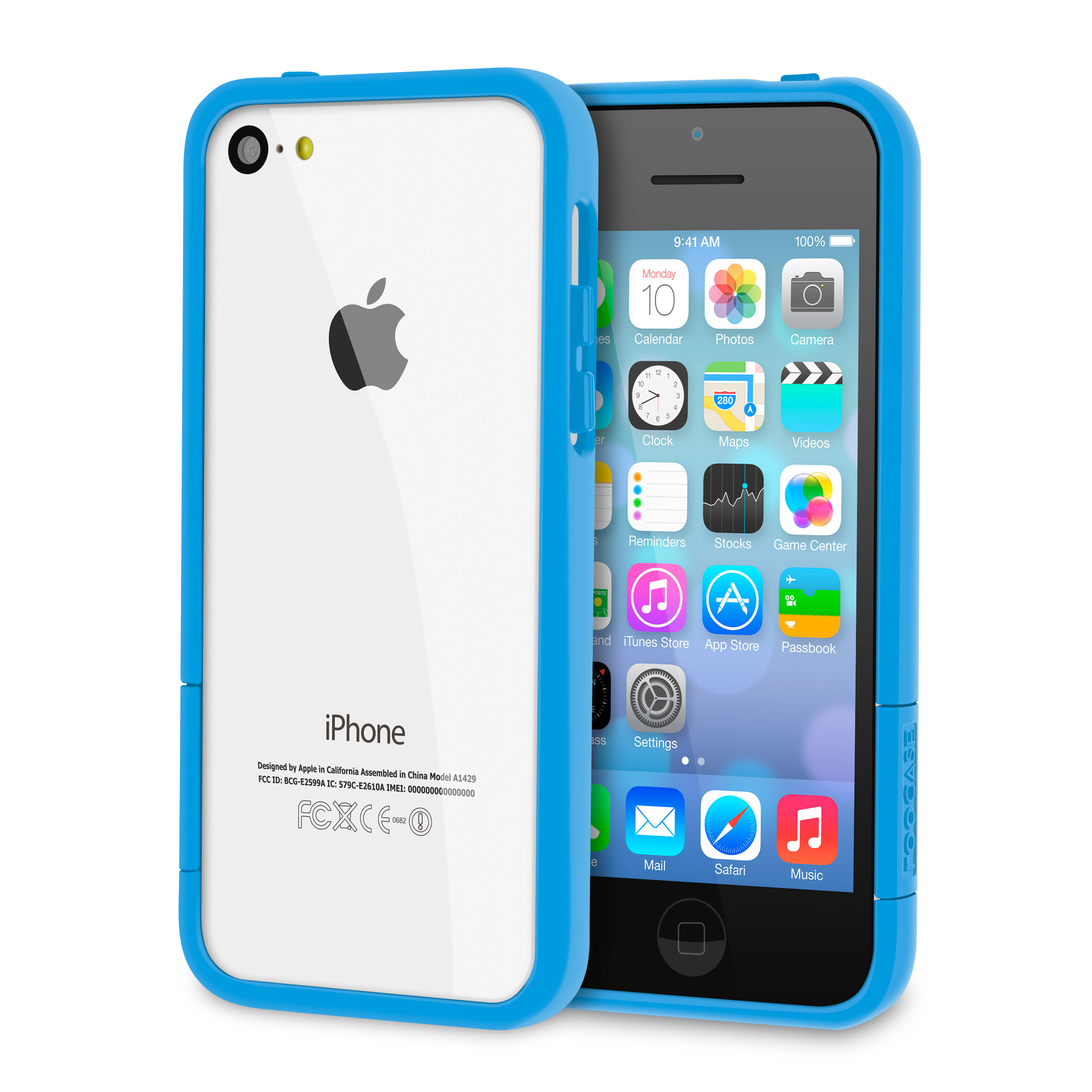 rooCASE Apple iPhone 5C ProGuard Bumper Slim Shell Case, Matte Blue
