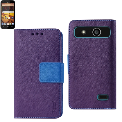 REIKO ZTE SPEED 3-IN-1 WALLET CASE IN PURPLE