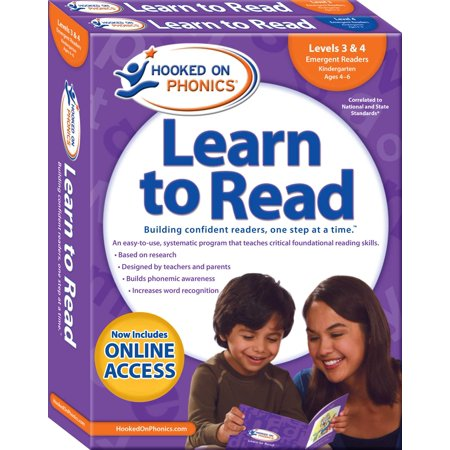 Hooked on Phonics Learn to Read - Levels 3&4 Complete : Emergent Readers (Kindergarten | Ages 4-6)