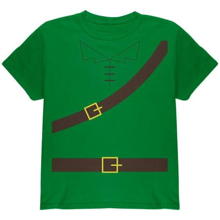 - Halloween Robin Hood Costume Irish Green Youth T-Shirt